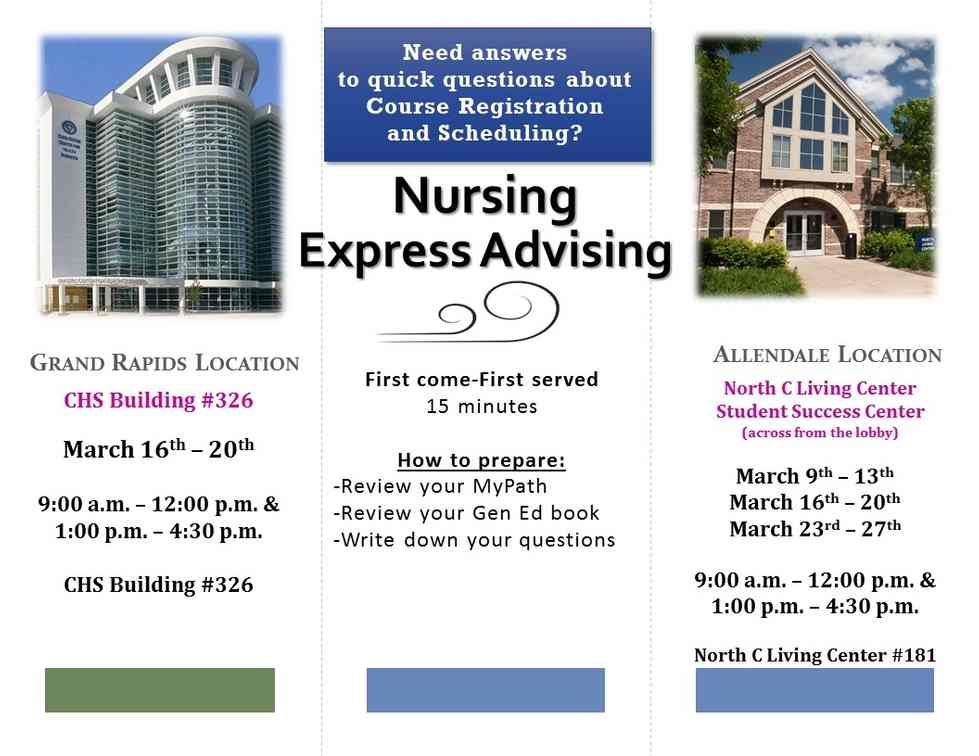 express advising flyer